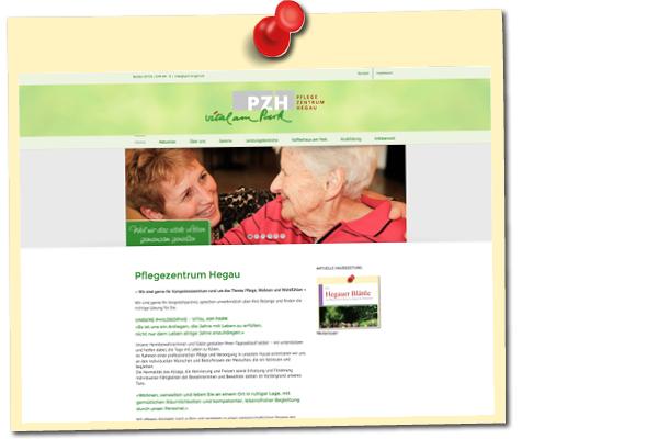 Webseite PZG Singen